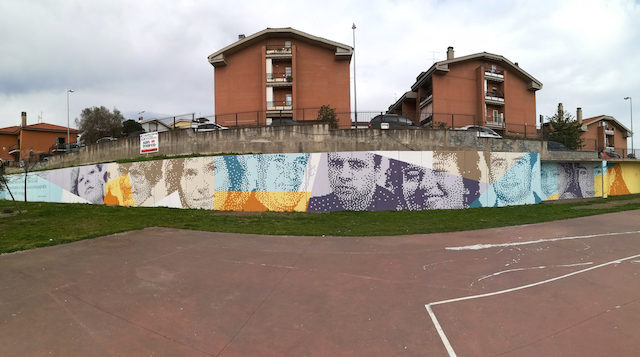 Krayon new work in Pavone, Province of Rome