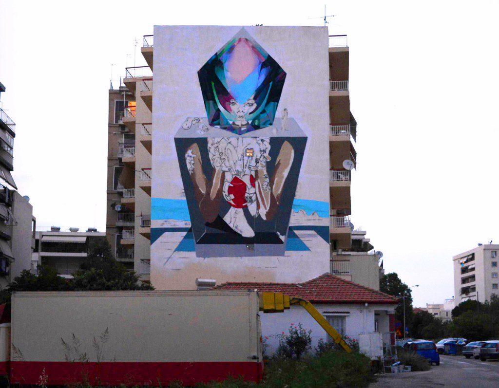 Apset wall for ArtWalk3 in Patras