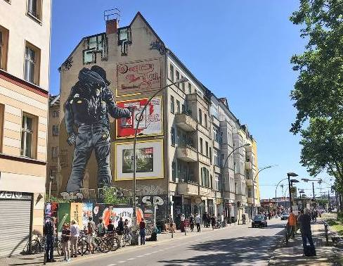Fresh mural in Berlin 2018 by MTO