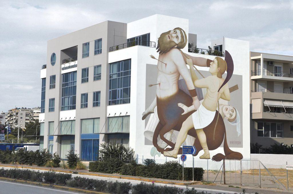 Mega mural by Fikos for ArtWalk3