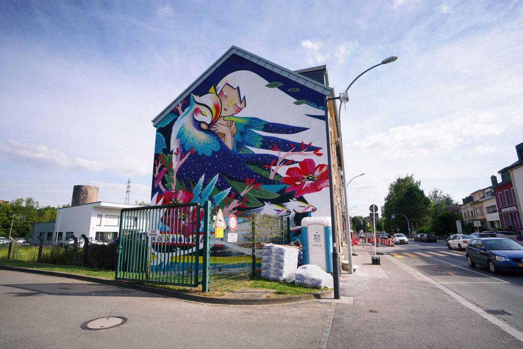 Julieta XLF latest Mural in Luxembourg