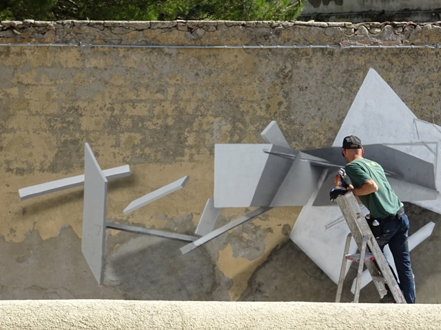 Urban art intervention by Italian graffiti artist Soda