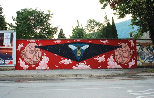 Mostar Street Art Festival wall by Luca Ledda