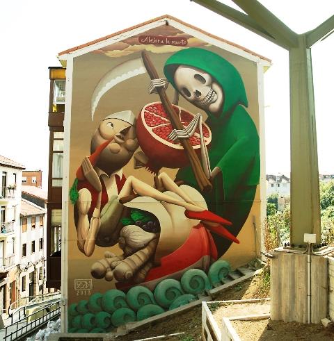 Zed1 fresh wall in Santander, Spain.