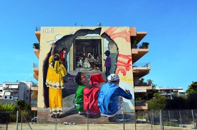 Art in Progress New wall in Patras GR