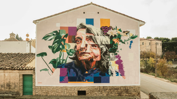 Dourone mural in Huesca, Spain