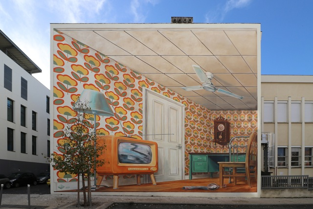 Augmented Reality 3D mural by Leon Keer
