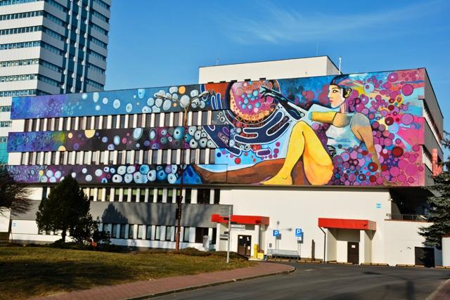 New mural in Lodz by Piotr Chrzanowski