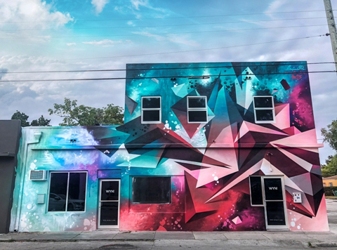 Mikael B mural in Wynwood