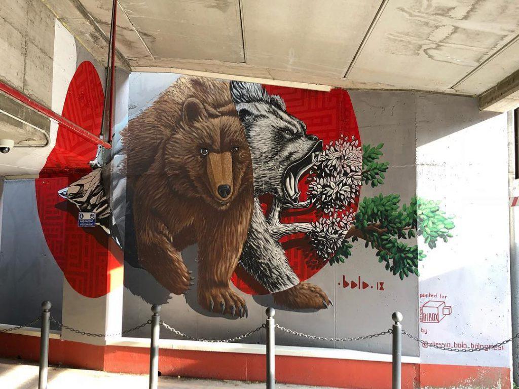 Bolo new mural project in Biella