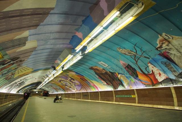 8 Artist Murals in Kyiv Metro station