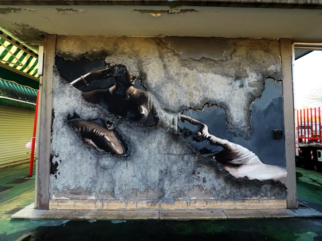 Luis Gomez New experimental mural in Rome