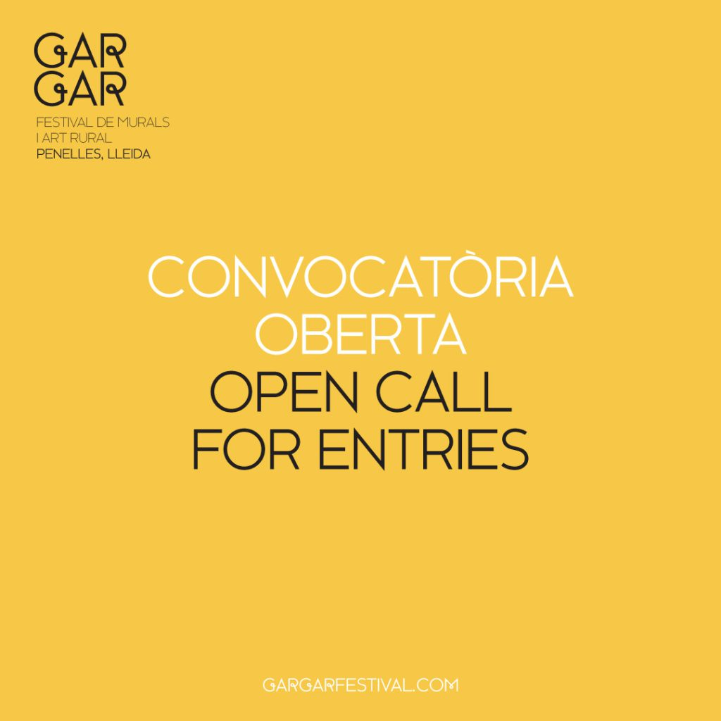 Open Call GAR-GAR FESTIVAL, Penelles (Catalonia) - I Support