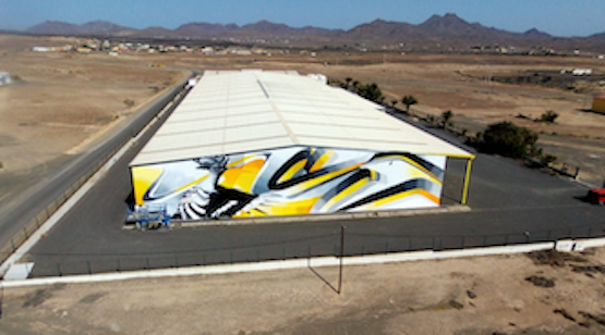 Suglas new wall at Fueteventura, Spain