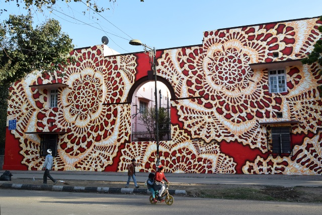 Nespoon mural in Delhi