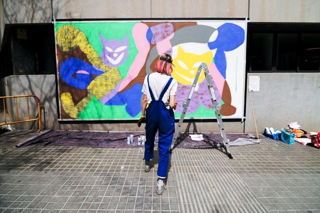 Bright new Contorno Urbano mural by Cristina Lina