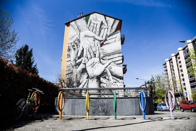 """Fresh Murals in Italy for """"COLLEGNO SI-CURA"""""""