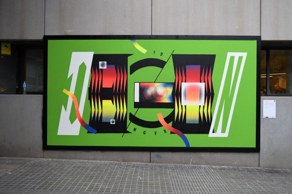 Interactive mural by artist Degon