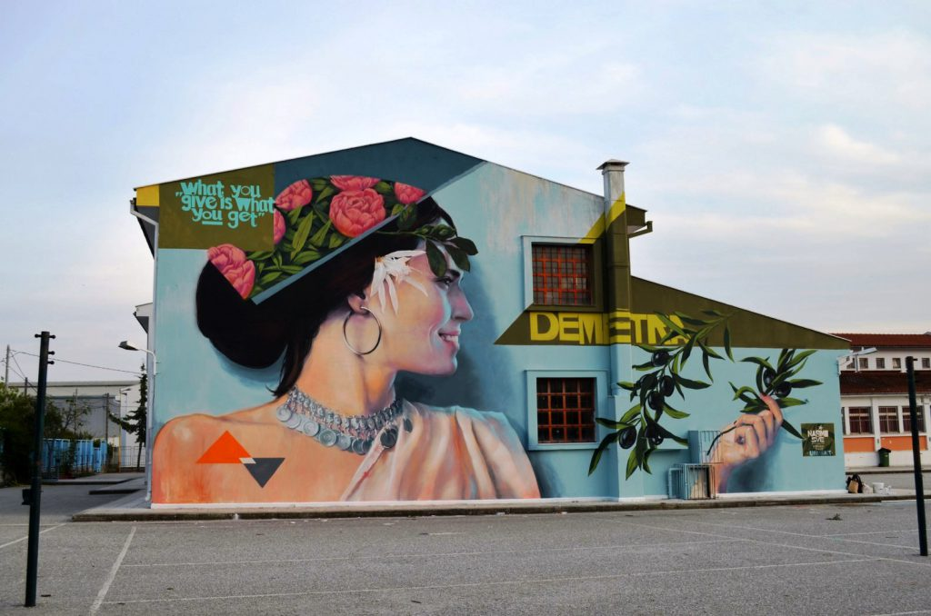 Second Mural in Volos for CITYCALL vol3