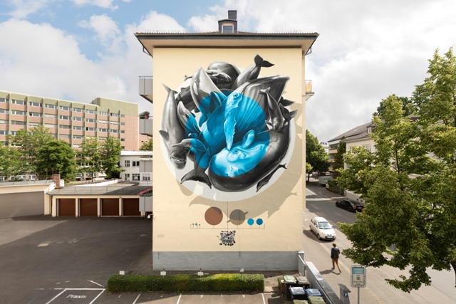 NEVERCREW mural in Giessen (DE) for River Tales Festival