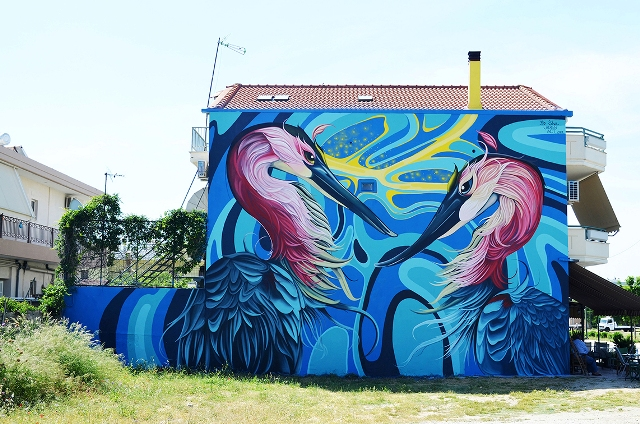 Fio Silva mural for «CITY CALL» vol3
