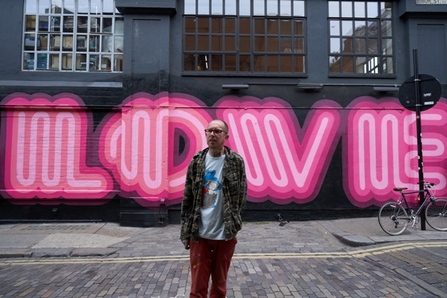 Ben Eine paints 'LOVE' mural on Ebor Street