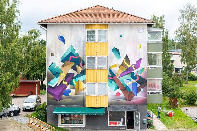 Mikael B mural for Artscape festival