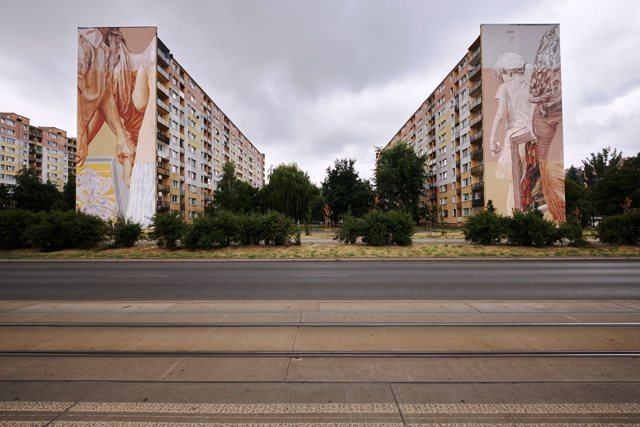 New walls in Łódź by Guido van Helten