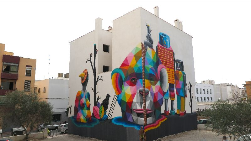 Mural for the OpenAir.Gallery by OKUDA