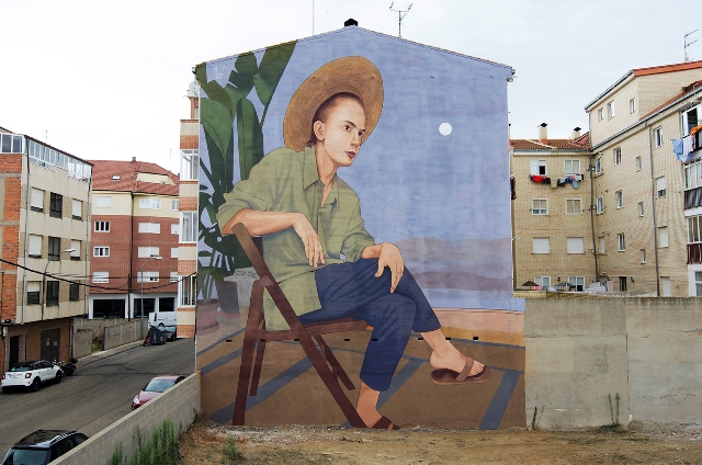 Artez new mural in La Baneza, Spain