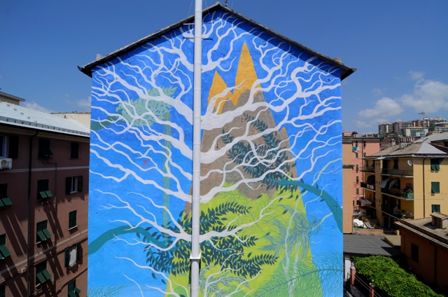 New mural by Gola Hundun in Genoa