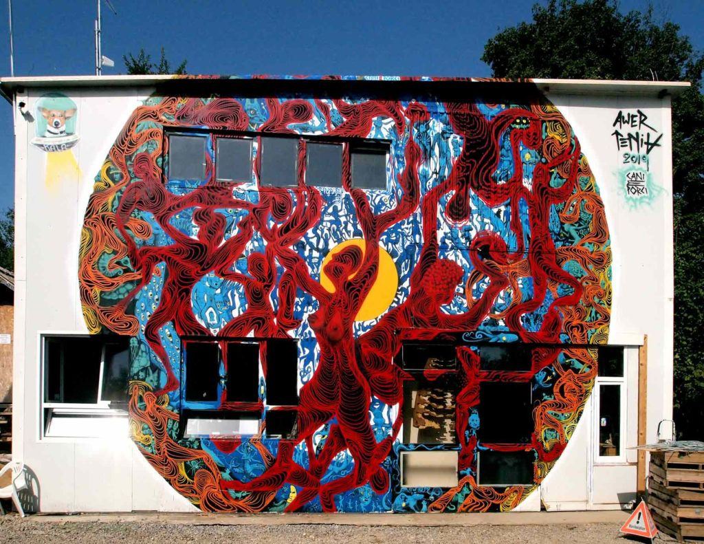 Awer & Alexander Tenia mural for Modem festival in Croatia