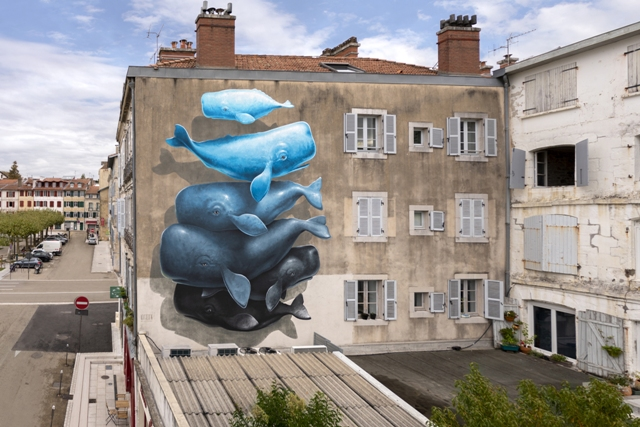 New NEVERCREW mural in Bayonne, France