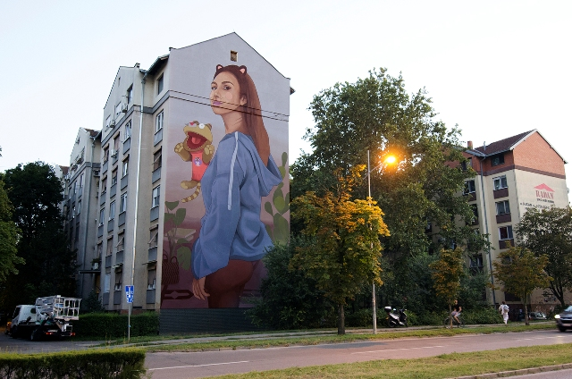 Artez New mural in Novi Sad