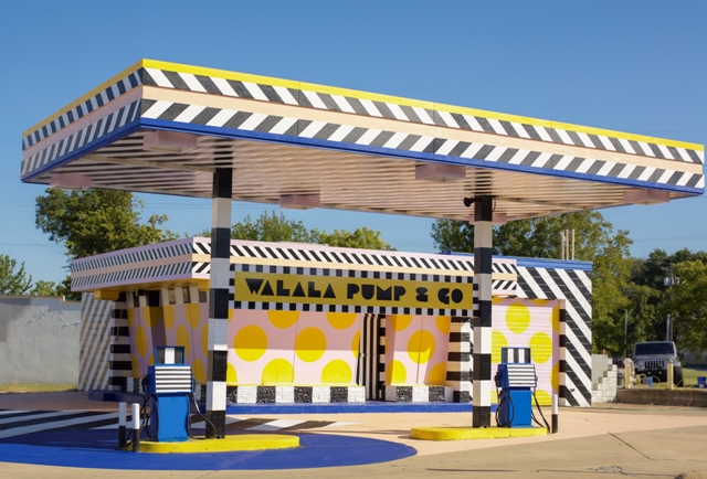 Camille Walala transforms Gas Station into colourful Landmark
