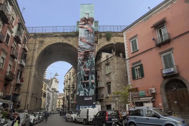 Jerico Cabrera Carandang mural in Napoli