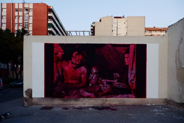 3 Murals for TAPIA Collective Exhibition in Barcelona