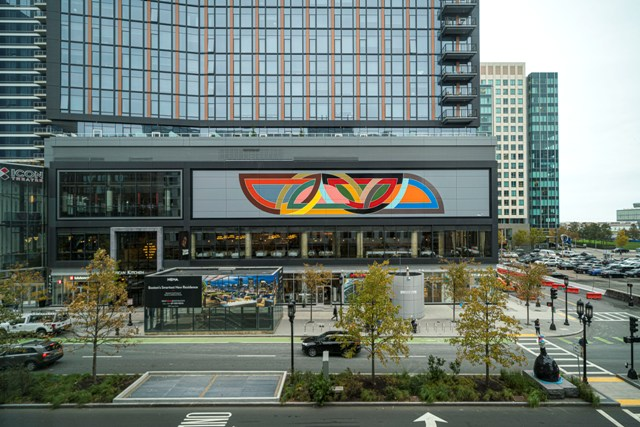 Monumental Frank Stella Mural in Boston's Seaport Neighborhood