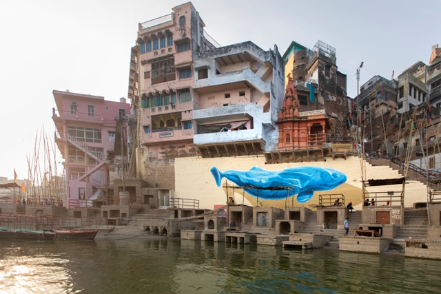 NEVERCREW mural in Varanasi, India