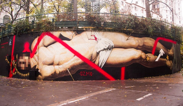 Mural for World AIDS Day by OZMO