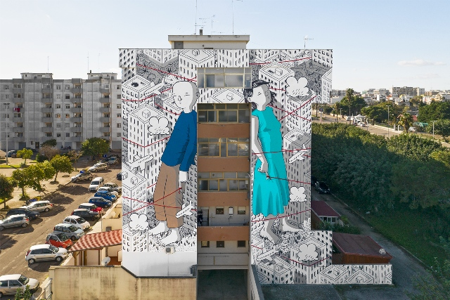 Chekos`art and Millo murals in Lecce for 167 Art Project