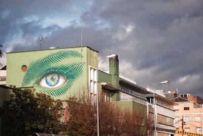 Jorge Rodríguez Gerada murals for UN climate conference