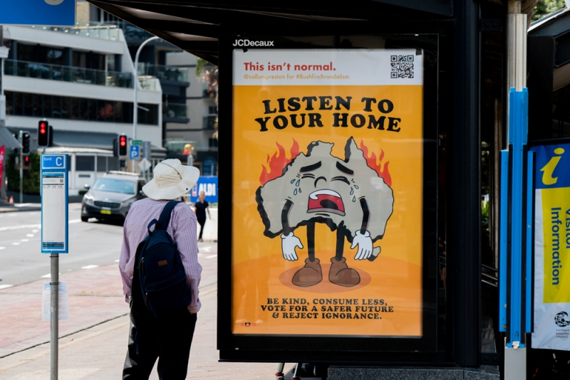 Bushfire Brandalism project in Australia