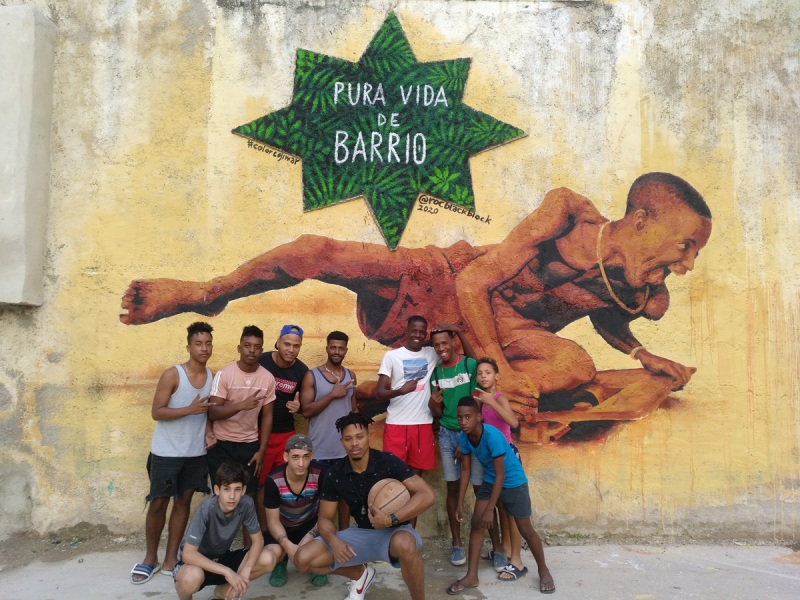 Roc Blackblock mural project in Cuba