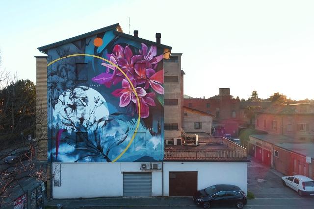 New Fabio Petani mural in Montale