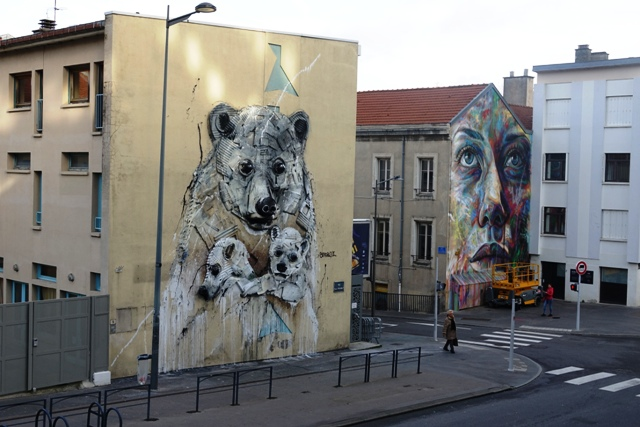 Bordalo II Polar Bears in Nancy