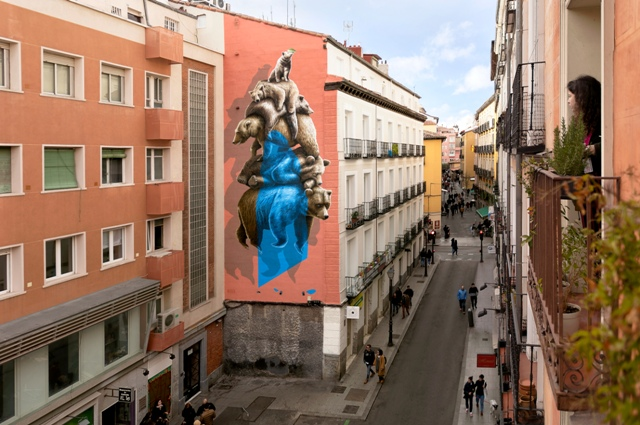 """""""Offset"""" NEVERCREW mural in Madrid"""
