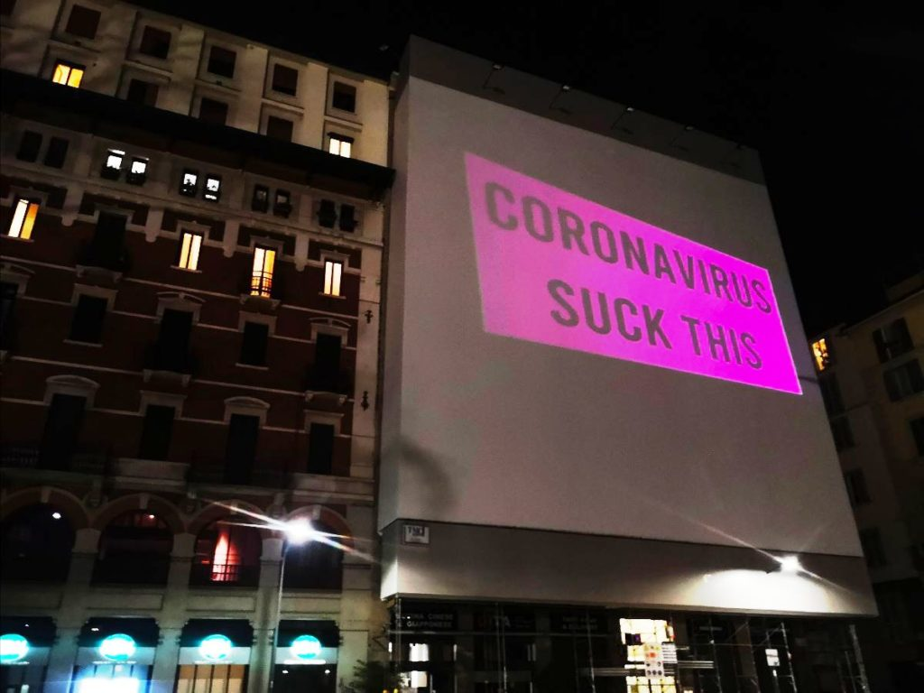 Coronavirus Sucks by Amadama in Milan