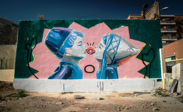 Ana Barriga Oliva new wall in Barcelona