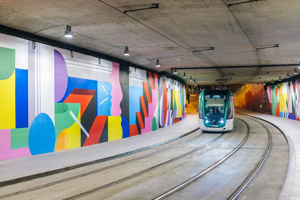 Mur0ne ART AL TRAM in Barcelona